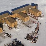 Aerial View of Amundsen-Scott Station, South Pole